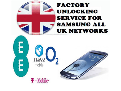 SAMSUNG S6 S7 S8 & S8+  Factory Unlock Code Service For UK Vodafone & EE -24Hrs
