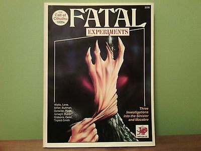 Fatal Experiments (Call of Cthulhu 1920s) | Chaosium 2328