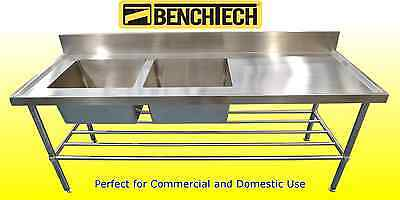 Stainless Steel Commercial sink 1800 x 700 x 900 Left Side