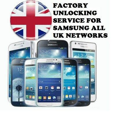 SAMSUNG S6 S7 S8 & S8+ Factory Unlock Code Service For UK O2 Vodafone & EE 24Hrs