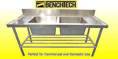 Stainless Steel Commercial sink 1500 x 700 900