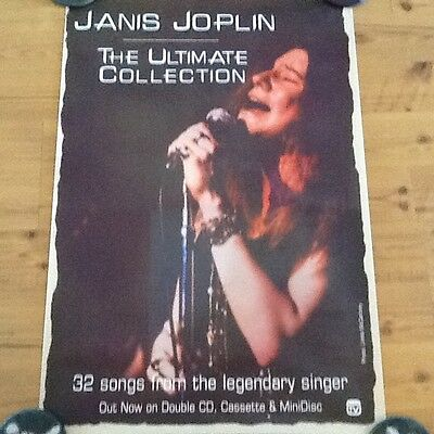 JANIS JOPLIN Poster EXTREMLY RARE! Promo only SONY TV records beautiful ORIGINAL