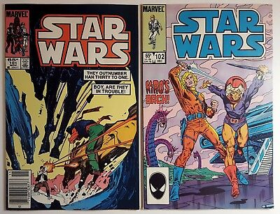 STAR WARS Lot #101, 102 (Marvel 1985) Rare Late Series Nice condition