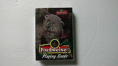 Budweiser Lizard Playing Cards Sealed 1998