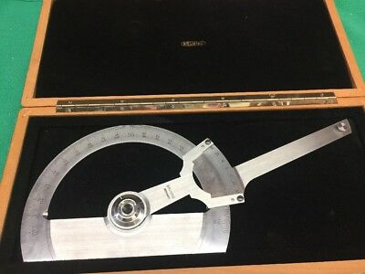 Bruning 70-510 Precision Protractor W/ Case