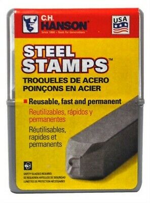 Stamp Number Kit 1/8in Steel,No 20541,  Hanson C H Co