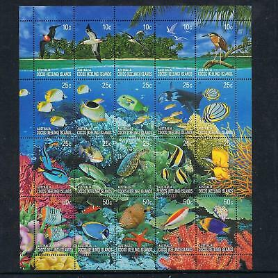 STAMPS  AUSTRALIA COCOS (KEELING) ISLAND 2006 BIRDS & FISH  Ms. MNH xx