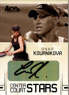 2006 Ace Authentic Grand Slam Center Court Stars Autographs #4 Anna Kournikova