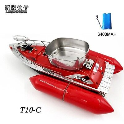 Newest T10-C mini fast electric rc fishing bait boat 280M Remote Fish Finder