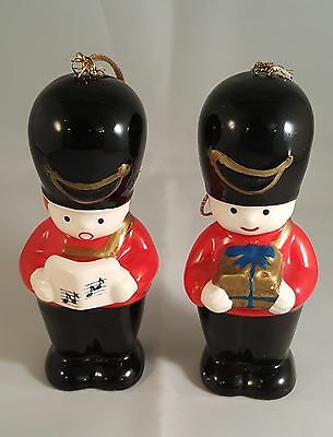 Holiday Toy Soldier Salt and Pepper Shakers  L Rice Antique
