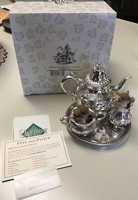 "Charming Tails ""MY DESIRE FOR YOU""  TEA SET MOUSE NIB"