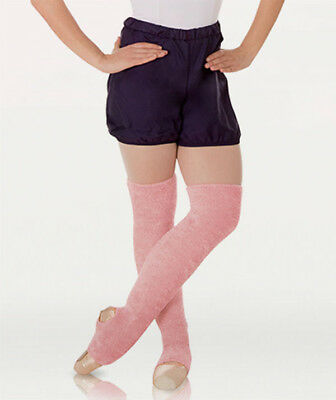 "Body Wrappers 198 Adult 22"" Theatrical Pink Stirrup Bouclé Leg Warmers (One SZ)"