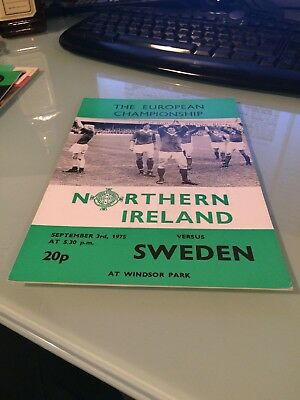 1975 Northern Ireland V Sweden European Championship