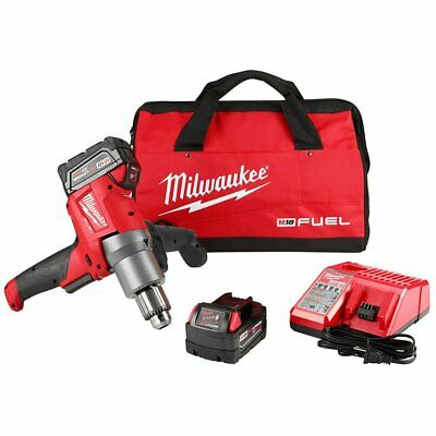 Milwaukee 2810-22 18-Volt 1/2-Inch Keyed Chuck Variable-Speed Mud Mixer Kit