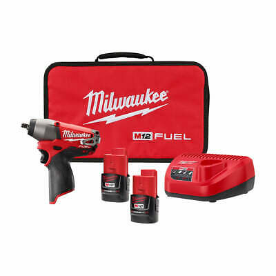 Milwaukee 2454-22 M12 FUEL 12-Volt 3/8-Inch Impact Wrench w/ Batteries