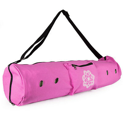 Peace Yoga Mat Carrier Tote Bag with Ventilation Eyelets & Adjustable Strap