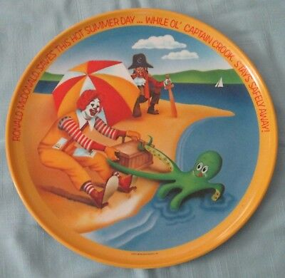 RONALD McDONALD AND CAPTAIN CROOK AT THE BEACH  PLATE 10""