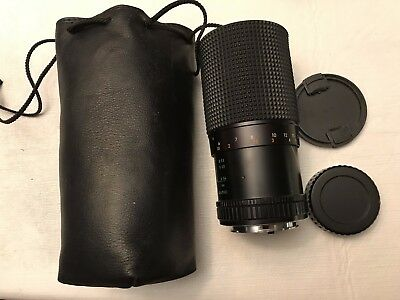 Sears Camera Lens 974870 Auto Zoom 55 f=80 200 mm 1:4.0 in carry storage bag