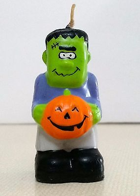 Vintage Halloween Frankenstein Candle Wax Novelty Party Table Home Decor
