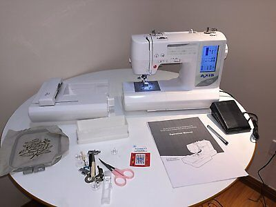 AXIS 1010 Combination Computerized Sewing and 10x9 Inch Embroidery Machine
