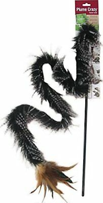 Petlinks Plume Crazy Wand Teaser Fur & Feather Toy For Cats. Free Ship The Usa