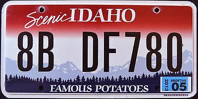 "IDAHO "" FAMOUS POTATOES - SCENIC "" 2013 ID Graphic License Plate"