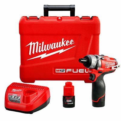 Milwaukee 2402-22 M12 FUEL 12-Volt 1/4-Inch Hex 2-Speed Screwdriver w/ Batteries