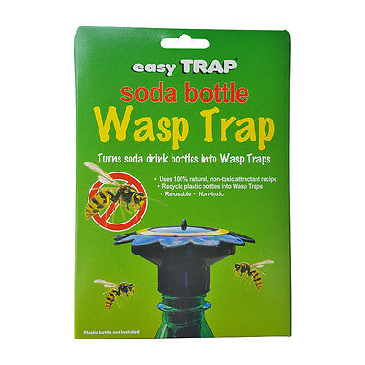 Soda Plastic Bottle Wasp Trap Top Mount Reusable Attractant Easy Best