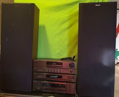 Sony HST-221 Stereo Component System &2 Sony U221 Speakers Works Great No remote