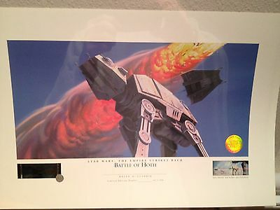 Star Wars - Ralph McQuarrie Lithograph - Battle of Hoth - unnumbered