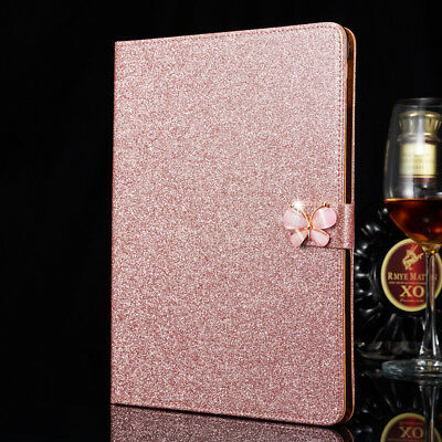 Bling Glitter Flip Leather Smart Stand Cover Case For iPad Air 2/ Air/ mini 4