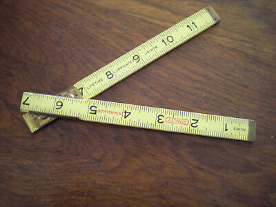 "Vintage Stanley 12"" Folding Ruler Joints Dealer Sample- Advertising"