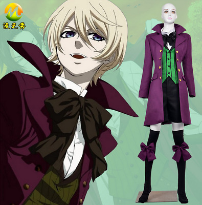 New Anime Black Butler Uniform Alois Trancy Cosplay Costume Complete Outfit Set