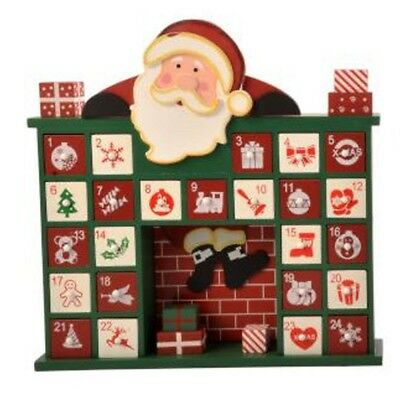 Wooden House Advent Calendar Count Down to Christmas 40cm Tall
