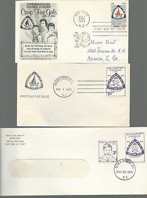 59 Postal Used Camp Fire Girls Logo Stamped Envelopes Fdc Pvt Post Free Usa Ship
