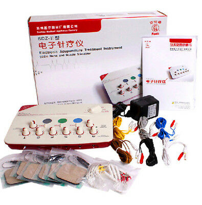 6 output channell Hwato SDZII Electronic Acupuncture Needles Stimulator New
