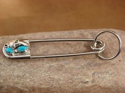 Navajo Indian Hand Made Turquoise Key Chain by Linda Yazzi!