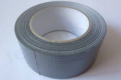 50m x 50mm Silver Gaffa Gaffer Duck Duct Cloth Tape Strong Waterproof NEW