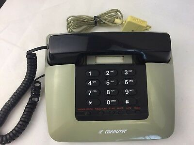 Computec - Corded Home Phone - Vintage - Retro - 80's - Telephone -