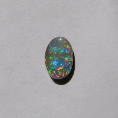 Natural Solid Boulder Opal 0.91Ct Loose Stone Multi Coloured Oval