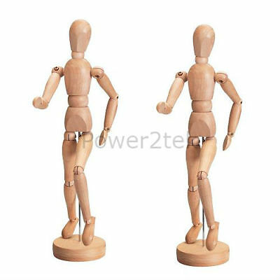 2 x IKEA GESTALTA Natural Wooden Artist Dummy 33cm Show Piece Figure Stand NEW