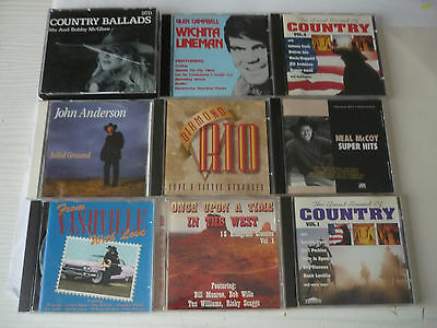 10 COUNTRY MUSIC CDs JOB LOT