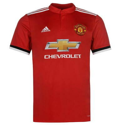 Adult M Manchester United Home Shirt 2017-18 with Mata 8 - PL Badges M191