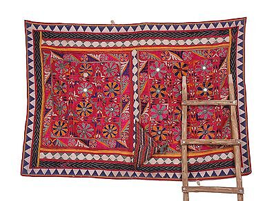 Traditional Indian Banjara Yoke Embroidery Applique Asian Art Sewing craft