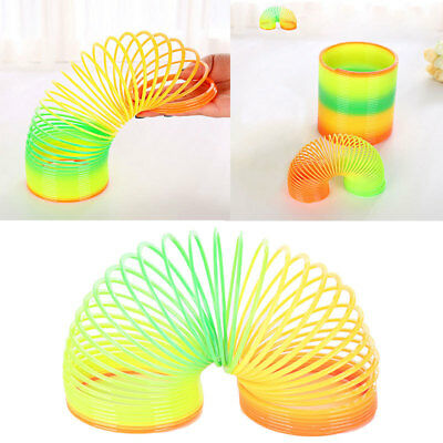 Plastic Spiral Slinkys Rainbow Neon Coloured Spring Party Bag Toys Fun 1 x