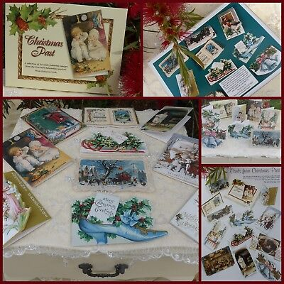 Christmas Greeting Cards - New Boxed Set Of 20 Vintage/victorian/antique Style