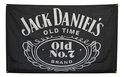 Jack Daniels Flag 3x5 Banner Whiskey Poster Glass Man Cave Sign Advertising Bar
