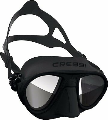 Cressi Calibro BLACK Mask Snorkel Face Diving Spearfishing Freediving DS425050