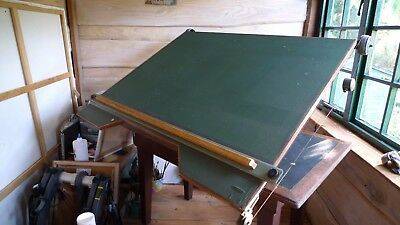 Vintage Architect's Drawing Board mounted on wooden table