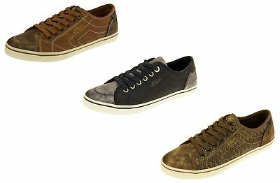 Ladies S.Oliver Casual Lace Up Trainers Womens Comfy Distressed Retro Pumps